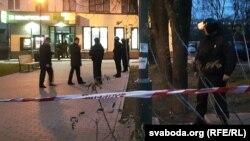 Пасьля нападу на банк у Магілёве, архіўнае фота