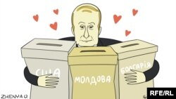 Политическая карикатура Евгении Олийнык