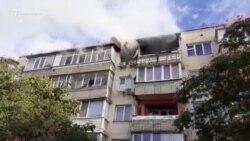 Взрыв и пожар в жилом доме в Каче. Видео с места событий (видео)