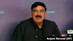 شیخ رشید احمد وزیر داخلۀ پاکستان