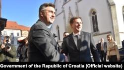 Премиерите на Словенија и на Хрватска Миро Церар и Андреј Пленковиќ, Загреб, 19.12.2017.