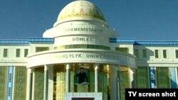 Turkmenistan -- New State University of Medicine in Ashgabat, 01Sep2010