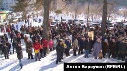 Митинг против строительства дороги в Новосибирске, 2017 год