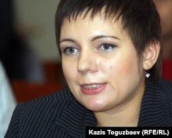 Редактор мультимедийных проектов «Республики» Анастасия Новикова. Алматы, 5 декабря 2011 года.