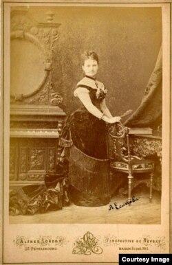 Anna Esipova (Anna Yesipova) în anii 1880 la Sankt Petersburg