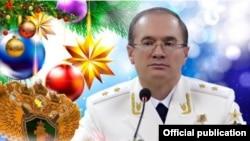 Прокурор ЧР Шарпудди Абдул-Кадыров поздравляет Кадырова с новым годом (открытка с сайта прокуратуры)