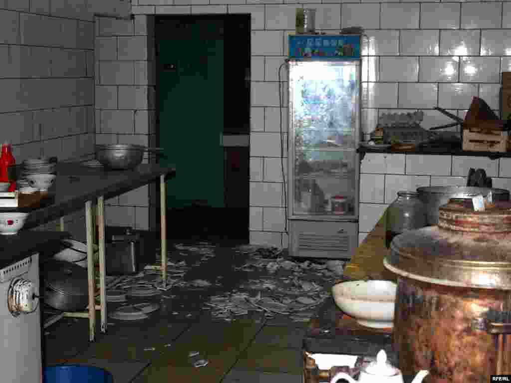 An ethnic Uzbek-owned restaurant in Osh city center was ransacked.