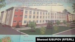 Проект новой школы имени А. Навои в Оше, которая строится за счет бюджета Узбекистана.