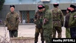 Казаки в Симферополе – 9 марта 2014 года