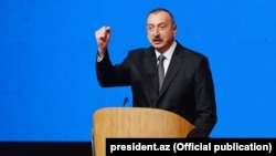 Azerbaijan - President Ilham Aliyev addresses the 6th Congress of his New Azerbaijan Party, 8Feb2018