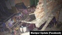 Разрушения после землетрясения на границе Мьянмы с Бангладеш в январе 2016 года. Иллюстративное фото.