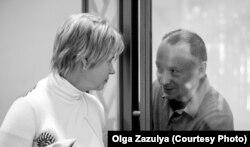 Михаил Савва вместе с женой, его общественным защитником Еленой