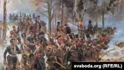 Карціна Войцеха Косака: бітва палякаў з расейцамі 25 лютага 1831