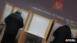 Glasanje na izborima 2009. foto: Savo Prelević
