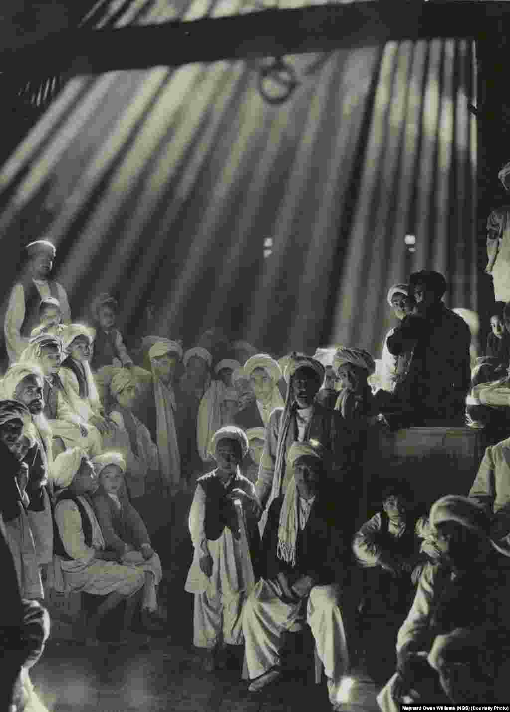 "In his favorite picture, taken in 1931, legendary ""National Geographic"" photojournalist Maynard Owen Williams marveled how, in this Herat, Afghanistan, bazaar, no one blinked during the three seconds required to make the exposure."