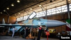 Overhauling a Russian Mig 29 in Iran - FILE PHOTO