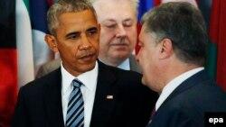Иллюстративное фото: Порошенко и Обама в штаб-квартире ООН, Нью-Йорк, 20 сентября 2016 года