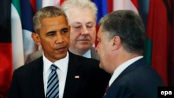 Barack Obama və Petro Poroshenko