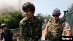 Пророссийские сепаратисты. Донецк, 14 августа 2014 года.