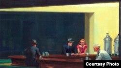 """""""Полуночники"""" Эдварда Хоппера (1942) на обложке календаря, выпущенного к парижской выставке"""