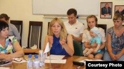 На встрече жителей Николаевки с чиновниками.