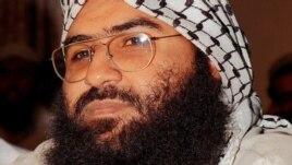Maulana Masood Azhar, leader of the Jaish-e-Mohammad group, in a November 2003 photo.