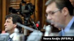 Bratislav Gašić i Aleksandar Vučić u Skupštini Srbije