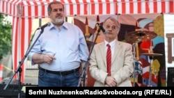 Refat Çubarov ve Mustafa Cemilev