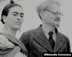 Художница Фрида Кало и Лев Троцкий, конец 1930-х годов