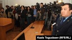 В зале суда во время оглашения приговора по делу о терроризме. Иллюстративное фото. Алматы, 7 ноября 2013 года.