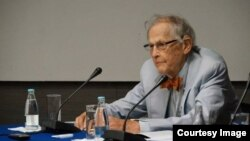 ریچارد فرای در کنفرانس انجمن بینالمللی مطالعات جوامع فارسی زبان در سارایوو- بوسنی٬ شهریور ۱۳۹۲