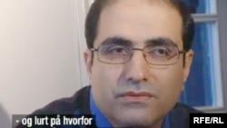 A TV grab picture from Norwegian TV station NRK of Mohammed Reza Heydari