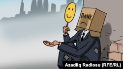 Dilənçi-bank. Karikatura
