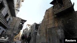Старый город в Алеппо (9 декабря 2016 г.)