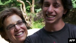 Joshua Fattal, one of three Americans being held in Iran, with his mother, Laura Fattal