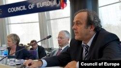 Претседателот на европската фудбалска федерација Мишел Платини