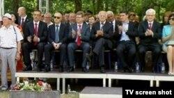 Hrvatski državni vrh na obilježavanju Dana antifašističke borbe, Brezovica, 22.6.2012.