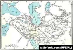 نقشه استانهای ایران در زمان خلفای عباسی