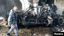 Хермель қаласында болған жарылыс. Ливан, 16 қаңтар 2014 жыл.