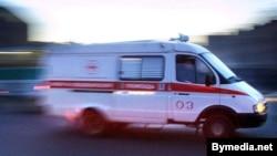 Belarus -- ambulance car on the streets of Minsk, undated