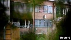 Пошкоджена вибухом будівля інституту кримінології в Брюсселі