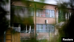 Пострадавшее в результате пожара здание криминалистической лаборатории в Брюсселе. 29 августа 2016 года.