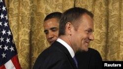 Președintele Barack Obama și premierul polonez Donald Tusk
