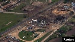 Загальний вигляд місця вибуху, фото 18 квітня 2013 року
