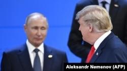 Владимир Путин и Дональд Трамп на саммите «Большой двадцатки». Буэнос-Айрес, ноябрь 2018 года.