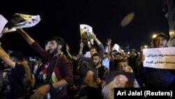 Demonstrație în sprijinul președintelui Masoud Barzani la Duhok în Irak