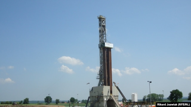 Poland's first shale-gas well in the town of Lebien, 90 kilometers west of Gdansk