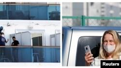 Близките на част от поставените под карантина пътници са пристигнали в Япония, за да ги подкрепят морално