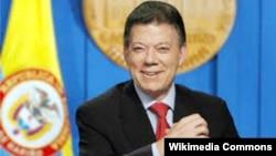 خوان مانوئل سانتوس رئیس جمهور کولمبیا