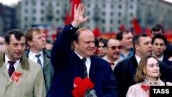 Лидеры Компартии Геннадий Селезнев (слева) и Геннадий Зюганов. Москва. 1996